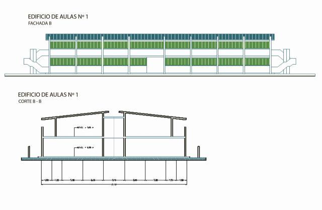 Planos de lo que sería el primer edificio de esta universidad en Talavera