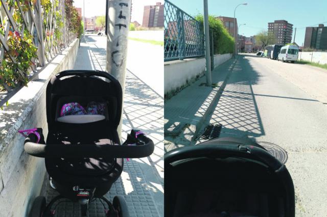 Cuando pasear con carrito de bebé se convierte en un peligro