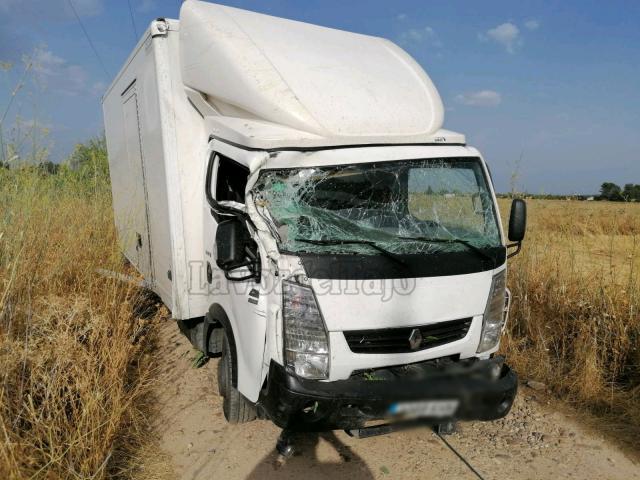 ACCIDENTE | Salida de vía de una furgoneta en Cazalegas