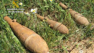 Desactivadas tres granadas de mortero originarias de la Guerra Civil