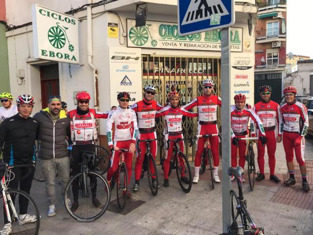 Los 25 años de Ciclos Ebora se celebraron en ruta