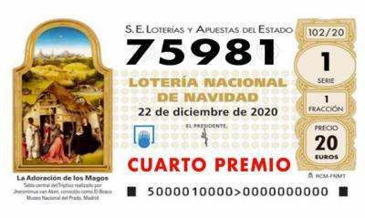 LOTERÍA DE NAVIDAD   Cuarto premio: 75.981, ha tocado en la provincia de Toledo