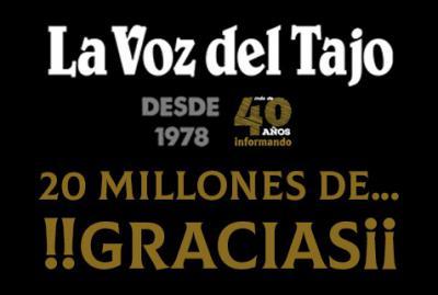 GRACIAS | El diario digital La Voz del Tajo duplica su audiencia en tan solo un año