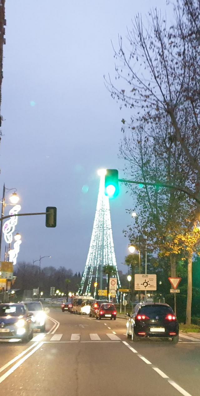 VÍDEO | Se desveló el misterio: un árbol navideño gigante ilumina Talavera