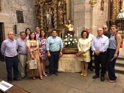 Carmen Riolobos participa en las fiestas en honor a El Salvador en Lagartera