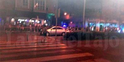 Fuerte accidente en la talaverana Avenida de Francisco Aguirre