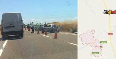ULTIMA HORA: Accidente en en km. 96,4 de la N-502 en Velada