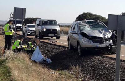 Fallece un varón de 43 años tras una colisión entre una moto y un vehículo en Alcaudete de la Jara