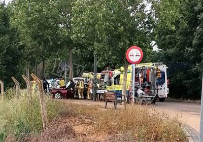 TALAVERA | Dos heridos en un aparatoso accidente junto al Barrio de Santa María