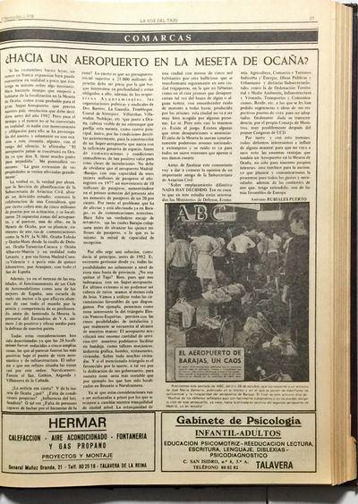 """Hace 40 años, la Meseta de Ocaña pudo tener un """"Super Aeropuerto"""""""