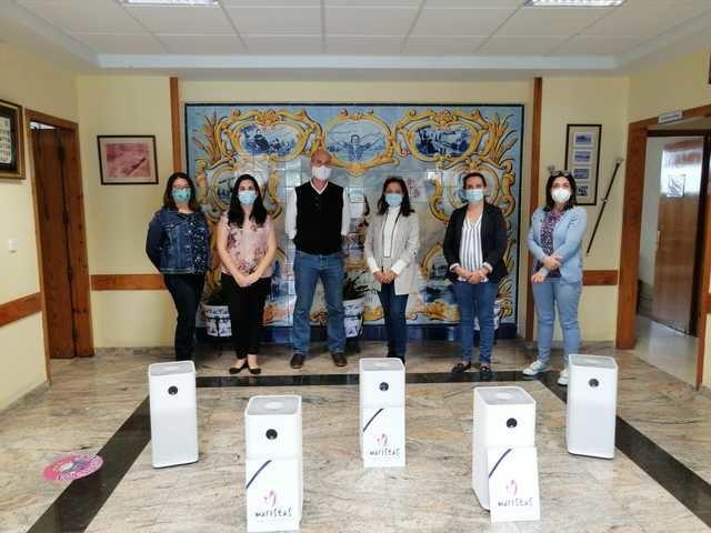 TALAVERA | El Colegio Marista emplea purificadores de aire para reducir el riesgo de contagio por COVID-19