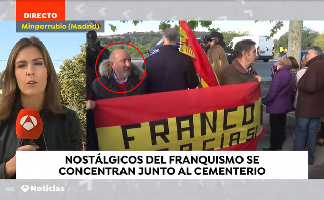 No te imaginas quién estaba en El Pardo junto a los seguidores de Franco