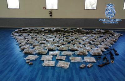 Golpe al narcotráfico internacional en La Sagra: marihuana, hachís, armas…