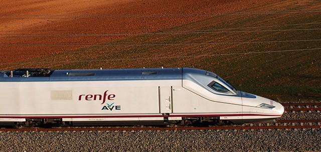 Un tren de alta velocidad de Renfe