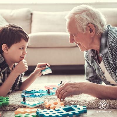 El 76% de los abuelos españoles pasarán la Semana Santa con sus nietos