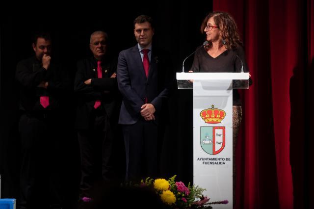 Ana Gómez interviene durante el acto.