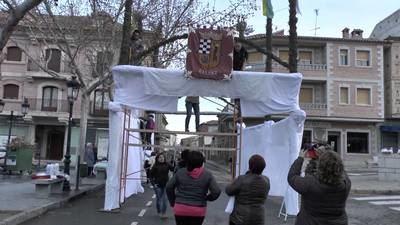 """Los quintos de Gálvez celebran el domingo de Resurrección con el tradicional encuentro en """"los arcos"""""""
