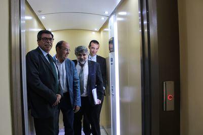 """Los mayores de la residencia """"Nuestra Señora de la Concepción"""" de Oropesa vuelven a contar con ascensor"""