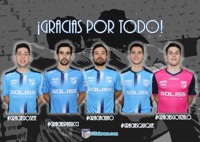 Josete, Panucci, Quique Hernando, Chino y Gonzalo no continuarán en el Soliss FS Talavera