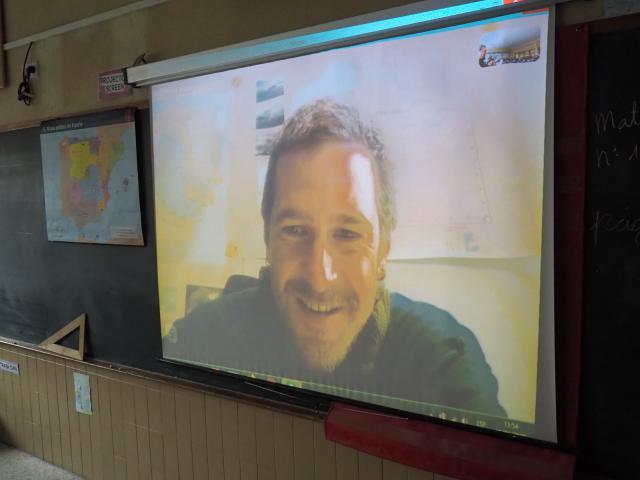 Visita virtual de alumnos maristas de Talavera a la Antártida