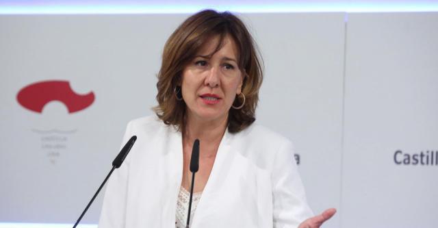 Blanca Fernández durante la rueda de prensa