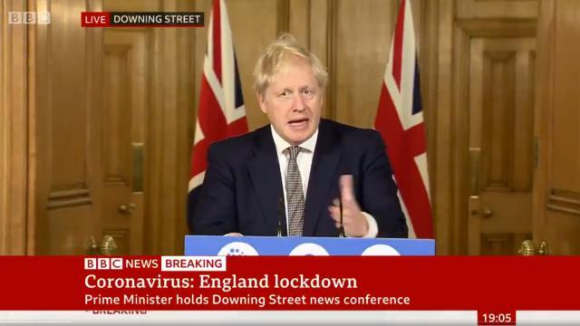 Boris Johnson, primer ministro de Reino Unido | Captura de pantalla