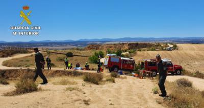 Rescatan el cuerpo del motorista que cayó por una pendiente en Burujón