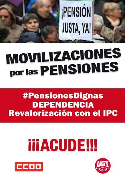 Movilizaciones los días 1 y 2 de octubre en CLM por los derechos de personas mayores y pensiones dignas