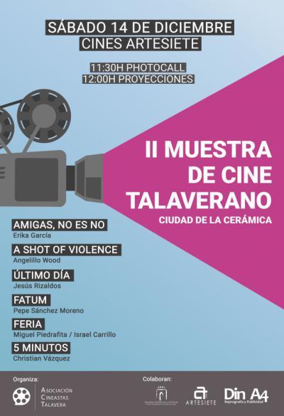 Este sábado se celebra la II Muestra de Cine Talaverano 'Ciudad de la Cerámica'