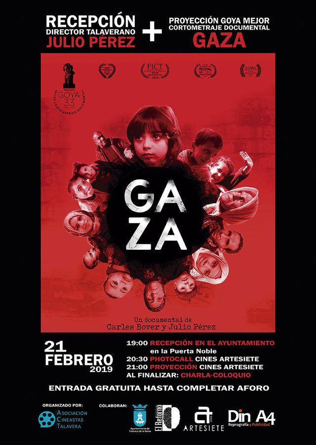 Presentación del cortometraje 'Gaza', premiado en los Goya, con el director Julio Pérez del Campo