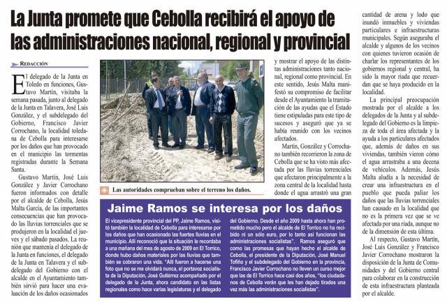HEMEROTECA | 20 Noticias con foto y una entrevista (VI)