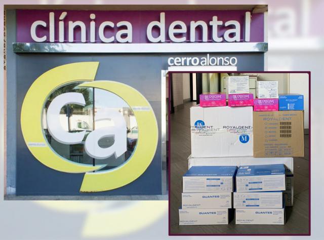 TALAVERA | La oleada de donaciones continúa: la Clínica Dental Cerro Alonso aporta 100 mascarillas y 1000 guantes