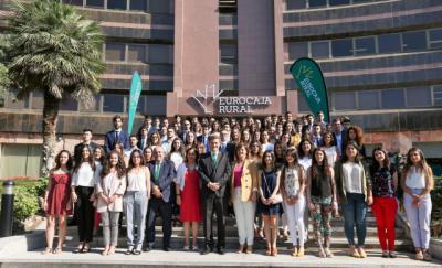 96 universitarios comienzan sus prácticas en Eurocaja Rural