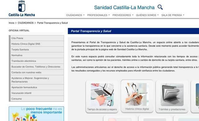 El Portal de Transparencia y Salud de CLM ha recibido más de 36.000 visitas