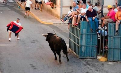 Herido leve un septuagenario corneado por un toro durante unos encierros