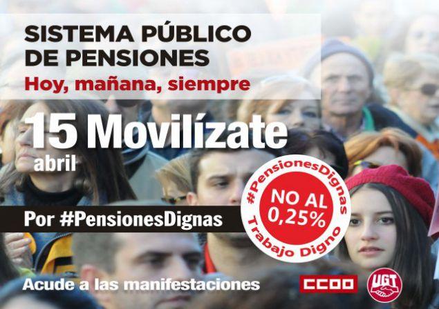 Llaman a participar masivamente en las movilizaciones por unas Pensiones Dignas