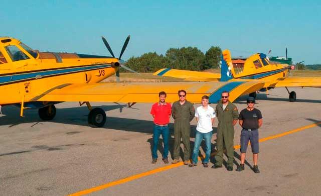 Regresan los aviones que han colaborado en el incendio de Portugal