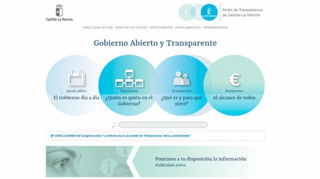 El Portal de Transparencia de CLM recibió más de 46.000 visitas durante 2017