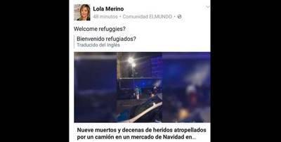 La diputada del PP en las Cortes, Lola Merino, tras el atentado de Berlín: