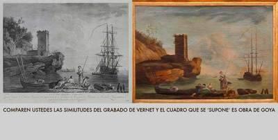 La estampa marina del anticuario abulense no es un Goya