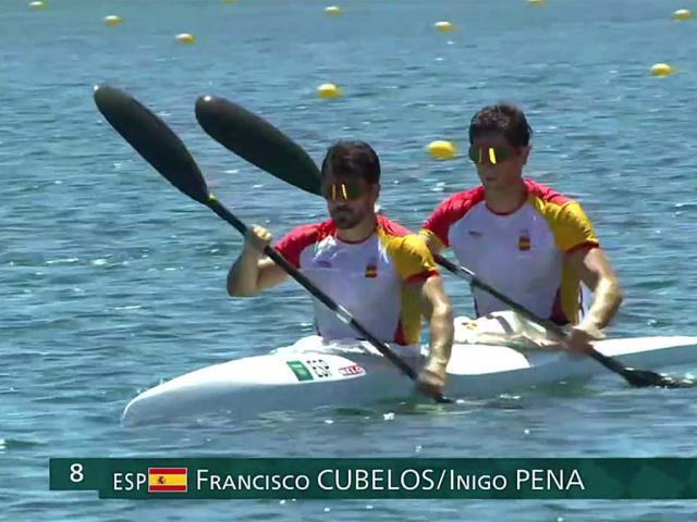Diploma olímpico para Paco Cubelos e Iñigo Peña en Tokio