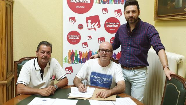 IU en Santa Cruz del Retamar visita la Diputación