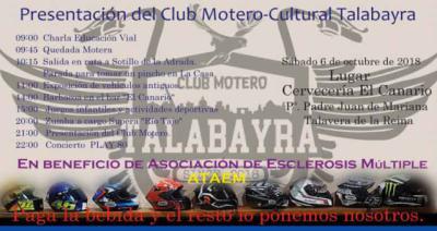 Talavera da la bienvenida al nuevo Club Motero-Cultural TALABAYRA