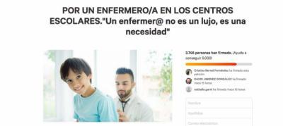 Una madre de Talavera recoge firmas para que haya enfermeras en los colegios