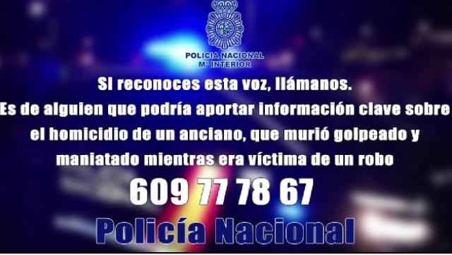 La Policía Nacional pide ayuda para identificar un audio anónimo relacionado con un homicidio