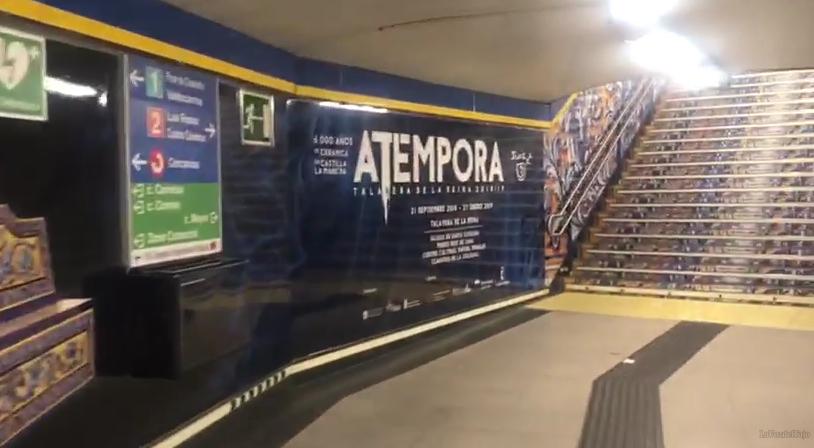 VÍDEO | Así luce 'Atempora' en la estación de metro de Sol