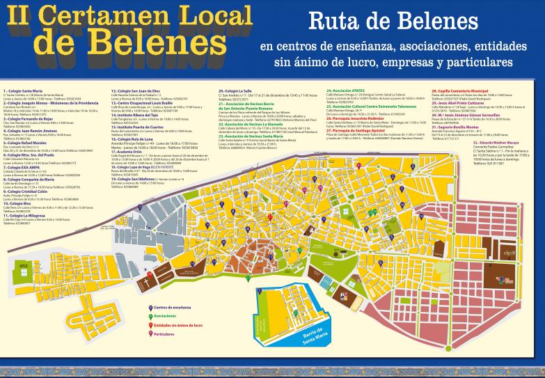 El Ayuntamiento edita un mapa para recorrer la ruta de los belenes