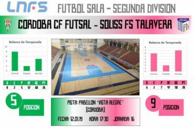 El Soliss FS Talavera arranca la segunda vuelta visitando al Córdoba CF Futsal