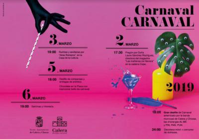 PROGRAMACIÓN| El Carnaval llenará Calera y Chozas de música, color y diversión