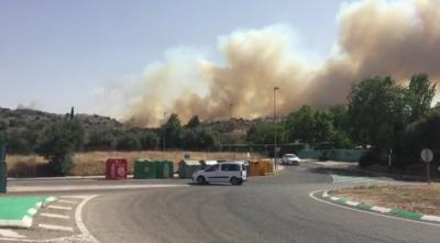 Declarado un incendio forestal en las afueras de Toledo